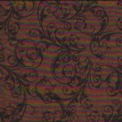 W108818 Extra Wide Backing Cotton Fabric - Flourish Scroll in Brown